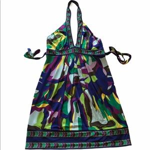 BCBGMAXAZARIA Printed Halter Dress | Multi-colored
